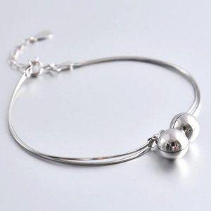 *NEW 925 Sterling Silver Double Bell Bracelet